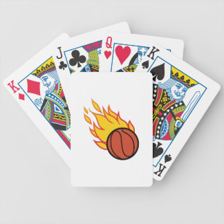 Flaming Basketball Appliqué Bicycle Playing Cards