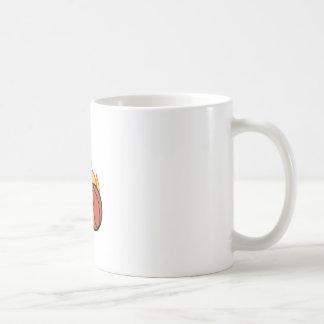 Flaming Basketball Appliqué Coffee Mug