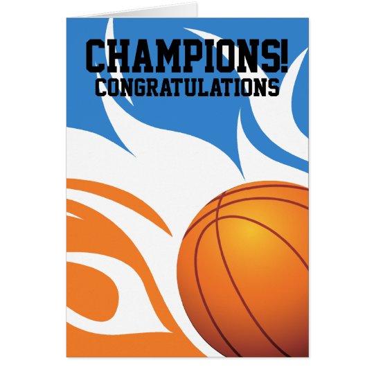Flaming Basketball B&O Congratulations Card