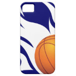Flaming Basketball Blue and White iPhone 5 Covers