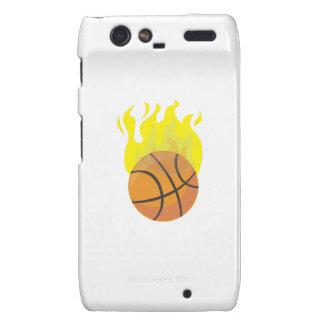 Flaming Basketball Droid RAZR Case