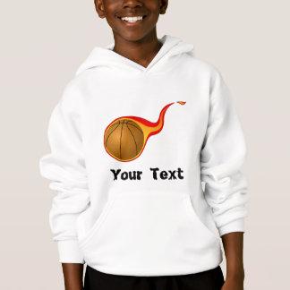 flaming basketball hoodie