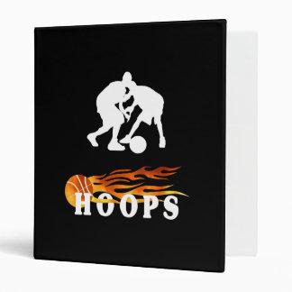 Flaming Basketball Hoops 3 Ring Binder