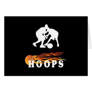 Flaming Basketball Hoops Card
