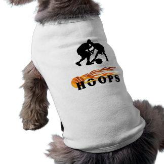 Flaming Basketball Hoops Doggie T-shirt