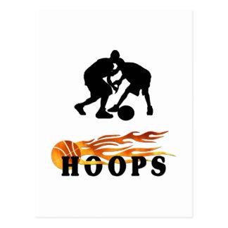Flaming Basketball Hoops Postcard