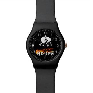 Flaming Basketball Hoops Wrist Watch