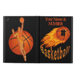 Flaming Basketball iPad Air Case, ADD NAME, NUMBER
