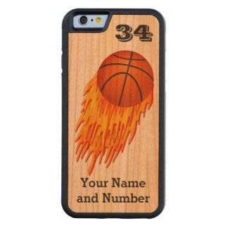 Flaming Basketball iPhone 6 Cases PERSONALIZED
