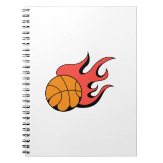 FLAMING BASKETBALL NOTEBOOKS