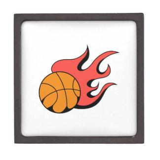 FLAMING BASKETBALL PREMIUM KEEPSAKE BOX