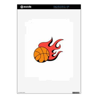 FLAMING BASKETBALL SKINS FOR THE iPad 2