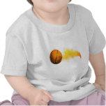 Flaming-Basketball Tshirt