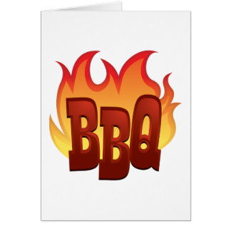 Flaming BBQ Card