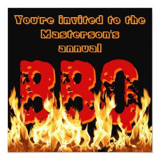 Flaming BBQ Invitation