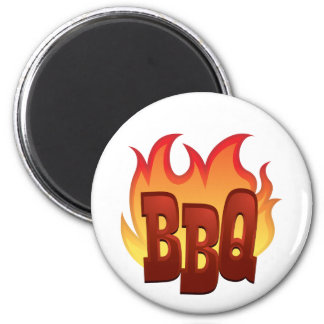 Flaming BBQ Magnets