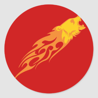 Flaming Bear #1 Classic Round Sticker