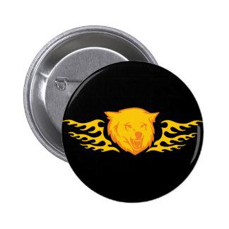 Flaming Bear #2 Pins