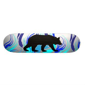 Flaming Bear Skateboard