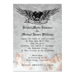 Flaming Biker Wedding 5x7 Paper Invitation Card
