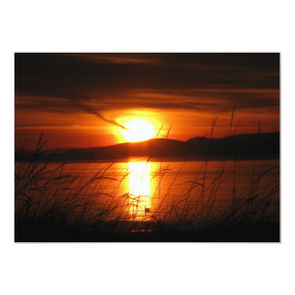 Flaming Birch Bay Sunset Card