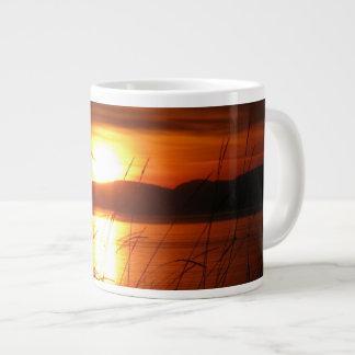 Flaming Birch Bay Sunset Large Coffee Mug