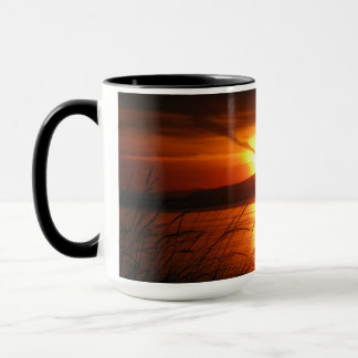 Flaming Birch Bay Sunset Mug