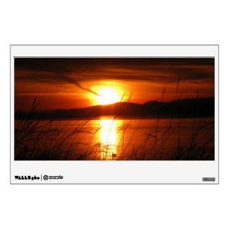 Flaming Birch Bay Sunset Wall Decal