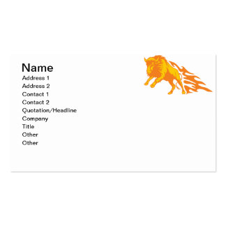 Flaming Bison #3 Business Card