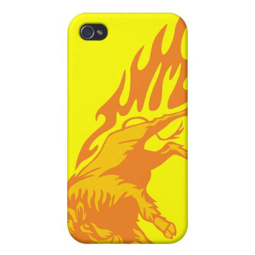 Flaming Bison #3 iPhone 4/4S Case