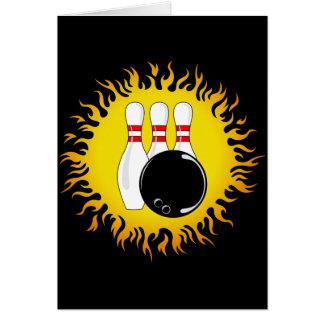 Flaming Bowling Card