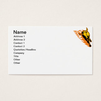 Flaming Bull #2 Business Card
