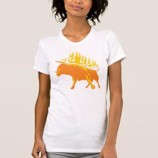 Flaming Bull #4 T-Shirt