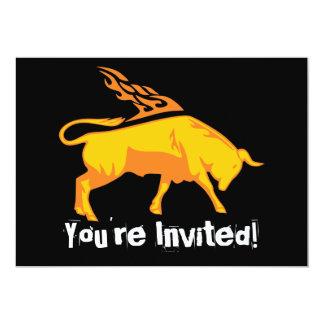 Flaming Bull #7 Card