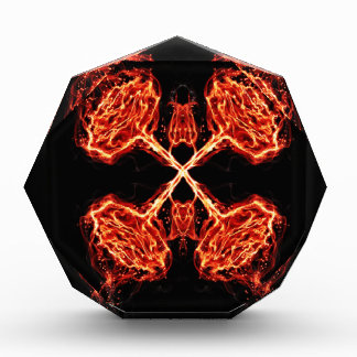 Flaming Burning Kaleidoscope Rose Award