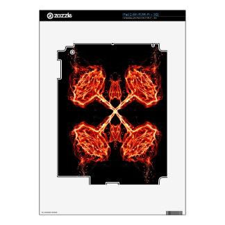 Flaming Burning Kaleidoscope Rose iPad 2 Skin