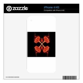 Flaming Burning Kaleidoscope Rose iPhone 4S Skins