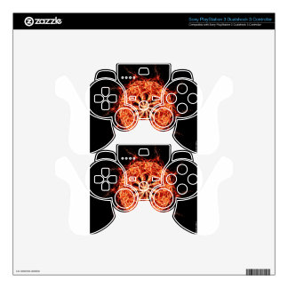 Flaming Burning Kaleidoscope Rose Skins For PS3 Controllers