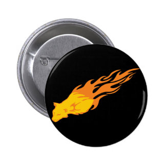 Flaming Cat #2 Button