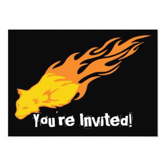 Flaming Cat #2 Card