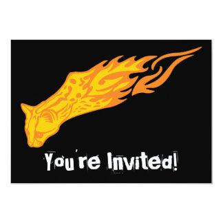Flaming Cat #3 Card