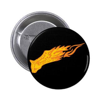 Flaming Cat #3 Pins