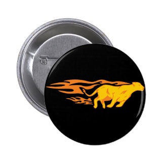 Flaming Cat #4 Pin
