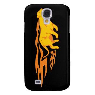 Flaming Cat #4 Samsung Galaxy S4 Case