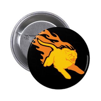 Flaming Cat #6 Buttons