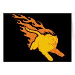 Flaming Cat #6 Card