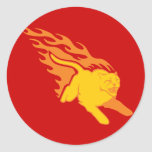 Flaming Cat #6 Round Stickers