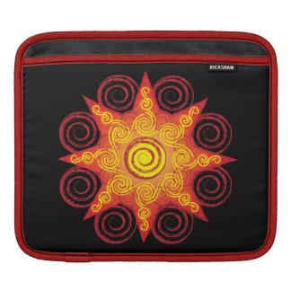 Flaming Celtic Sun iPad Sleeve