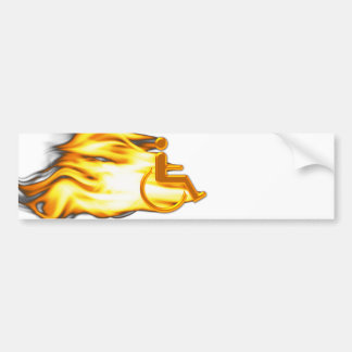 Flaming Chair Bumper Sticker