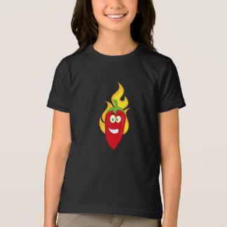 Flaming Chili Pepper Girls T-Shirt